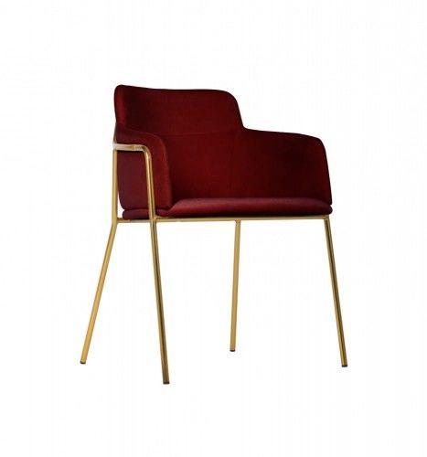 Krzesło Korfu Gold bordowe