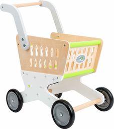 """small foot 11161 """"Trend"""" wózek na zakupy z drewna, akcesoria do sklepu sklepowego i odgrywanie ról, od 3 lat"""