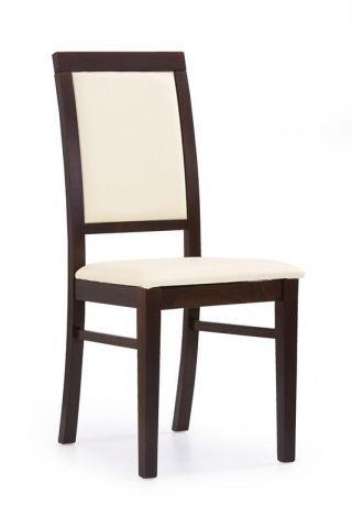 Krzesło SYLWEK 1 kremowe ekoskóra/ciemny orzech  Kupuj w Sprawdzonych sklepach