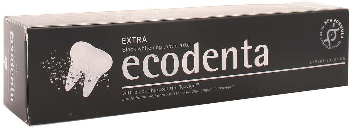 Pasta do zębów ecodenta extra black wybielająca - Biok - 100ml