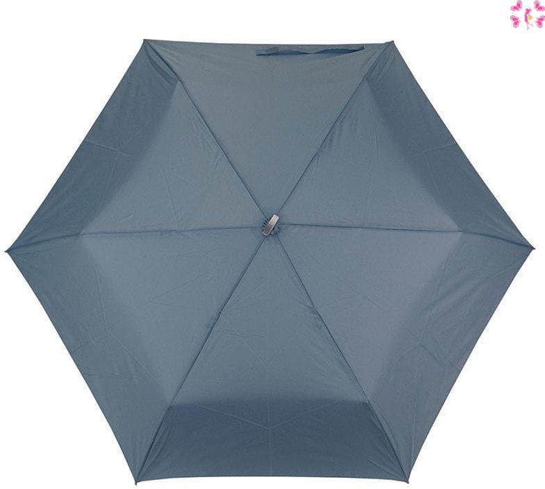 Mała niebieska podróżna parasolka- włókno węglowe