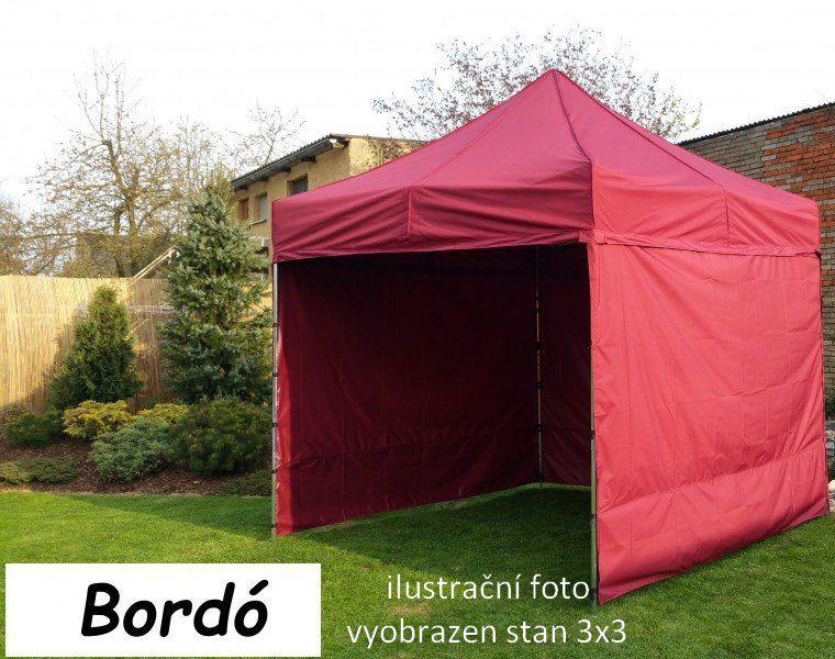 Namiot ogrodowy PROFI STEEL 3 x 6 - bordowy