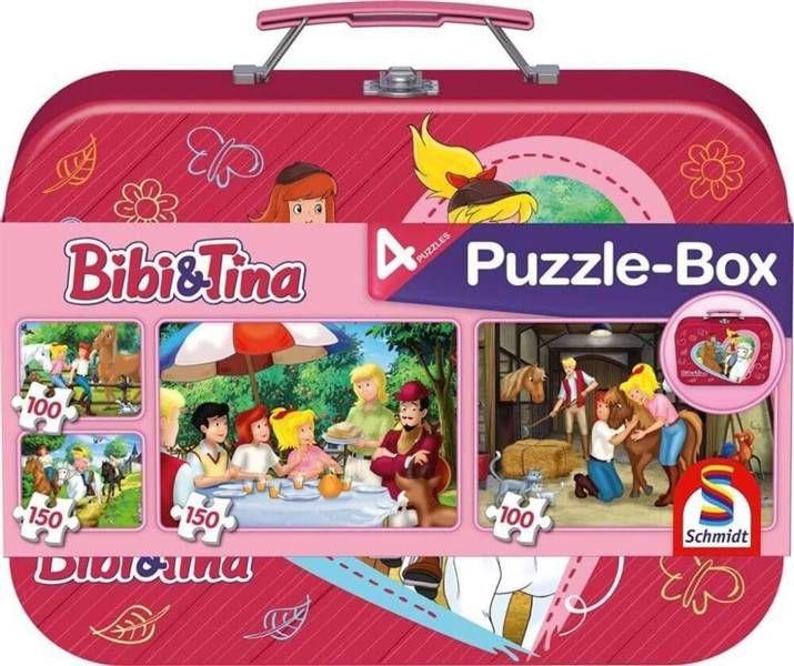 Puzzle 2x100 + 2x150 w walizce Bibi&Tina G3