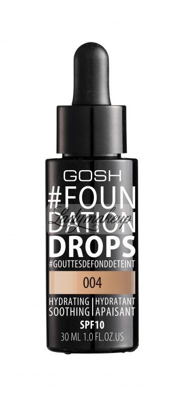 GOSH - FOUNDATION DROPS - Podkład nawilżająco-wygładzający - 004 - NATURAL