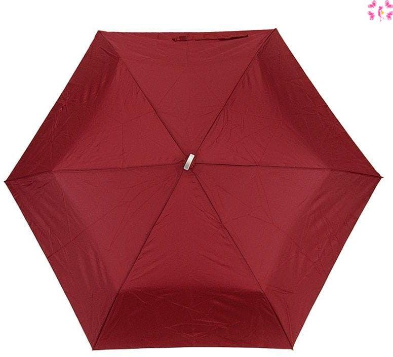 Mała czerwona podróżna parasolka- włókno węglowe