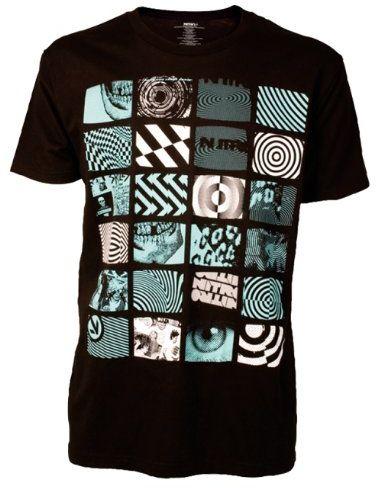 Nitro Snowboards Męski T-shirt Transmission S/S, Black/Tahiti-Blue, S