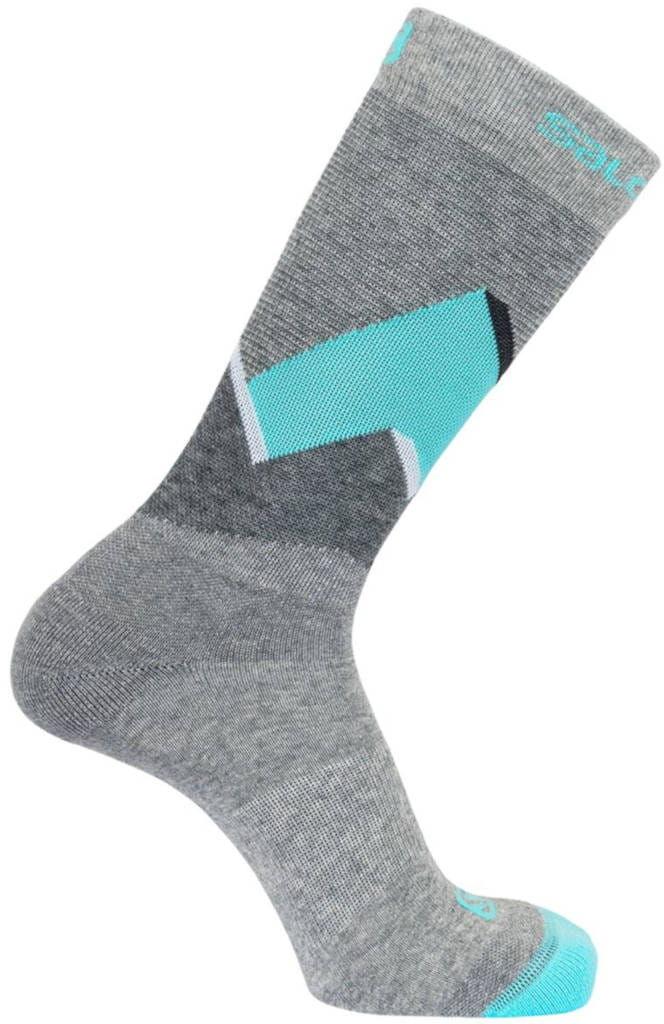 Skarpety Salomon Outline Prism 2pack Medium Grey / Pastel Turquoise
