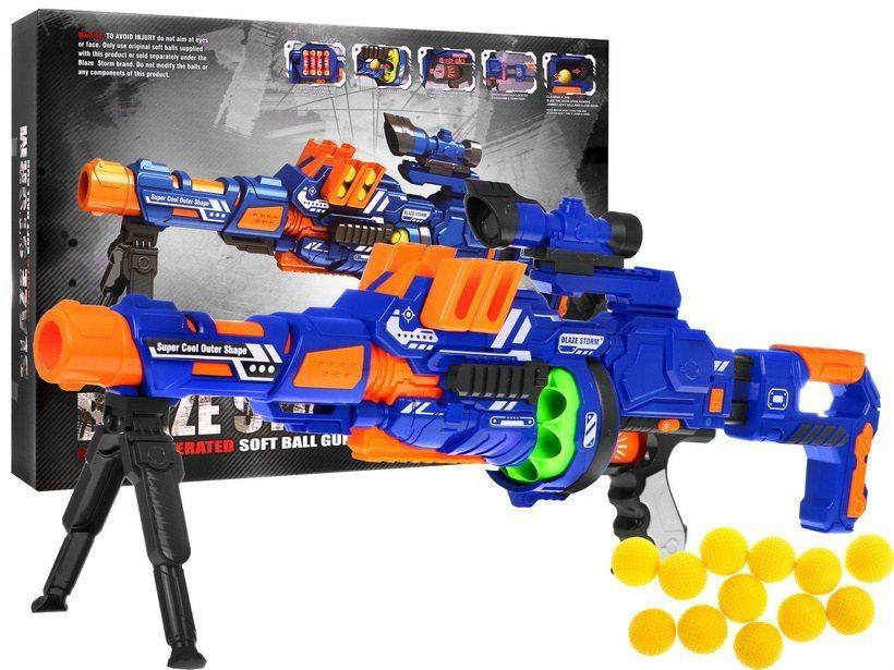 Zabawka: Wielofunkcyjny Pistolet-Karabin Modułowy BLAZE STORM (nap. elektr.) Na Kulki Piankowe 22mm.