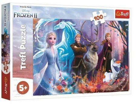 Trefl Puzzle Kraina Lodu 2 - Mrożąca magia, 100 elementów