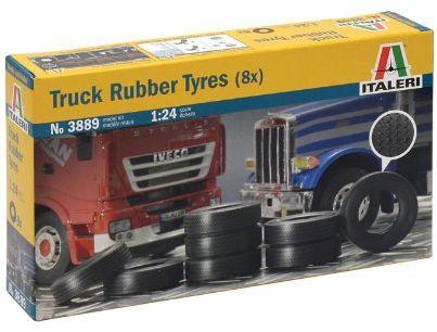 Italeri I3889 510003889 - 1:24 opony do ciężarówek, 8 sztuk