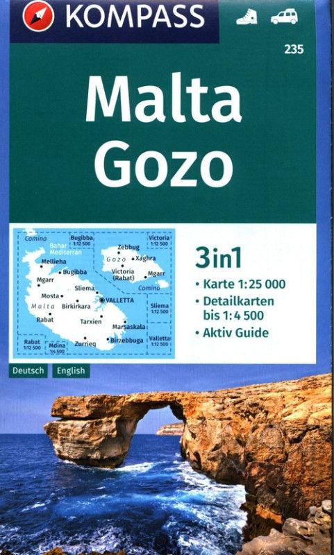 Malta Gozo 3in1 mapa turystyczna 1:25 000 ZAKŁADKA DO KSIĄŻEK GRATIS DO KAŻDEGO ZAMÓWIENIA