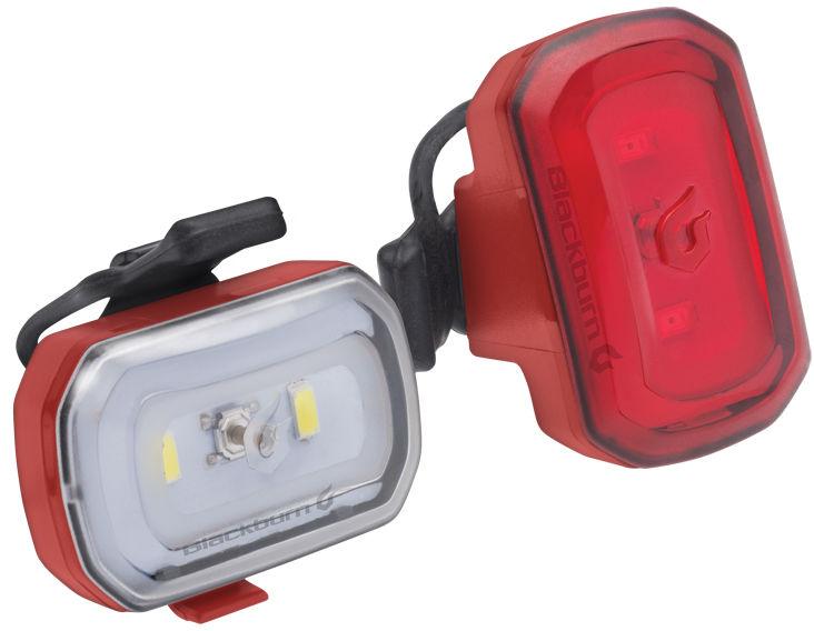 Zestaw lampki BLACKBURN CLICK USB przód 60 lumenów, CLICK USB tył 20 lumenów czerwone BBN-7074659,768686731198