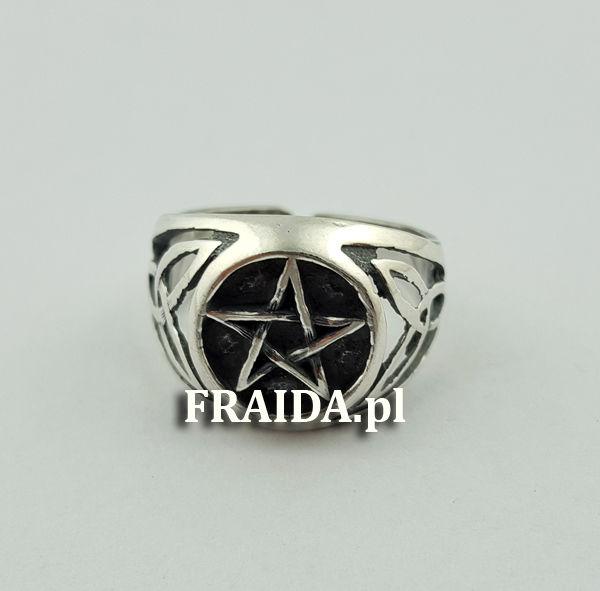 Pierścień z Pentagramem duży
