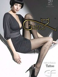 """Rajstopy Tattoo 01 """"Nero"""""""