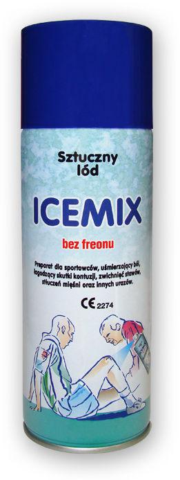 MEDYCZNY Spray chłodzący zamrażacz - sztuczny LÓD - 400ml ICEMIX (coolant)
