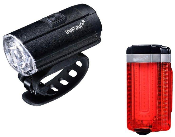 INFINI TRON SET zestaw lampek rowerowych Black USB I-8180,4712123268859