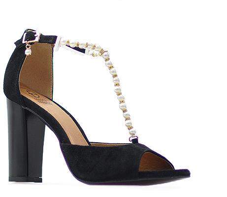Sandały Fabio Fabrizi 781 Czarne zamsz