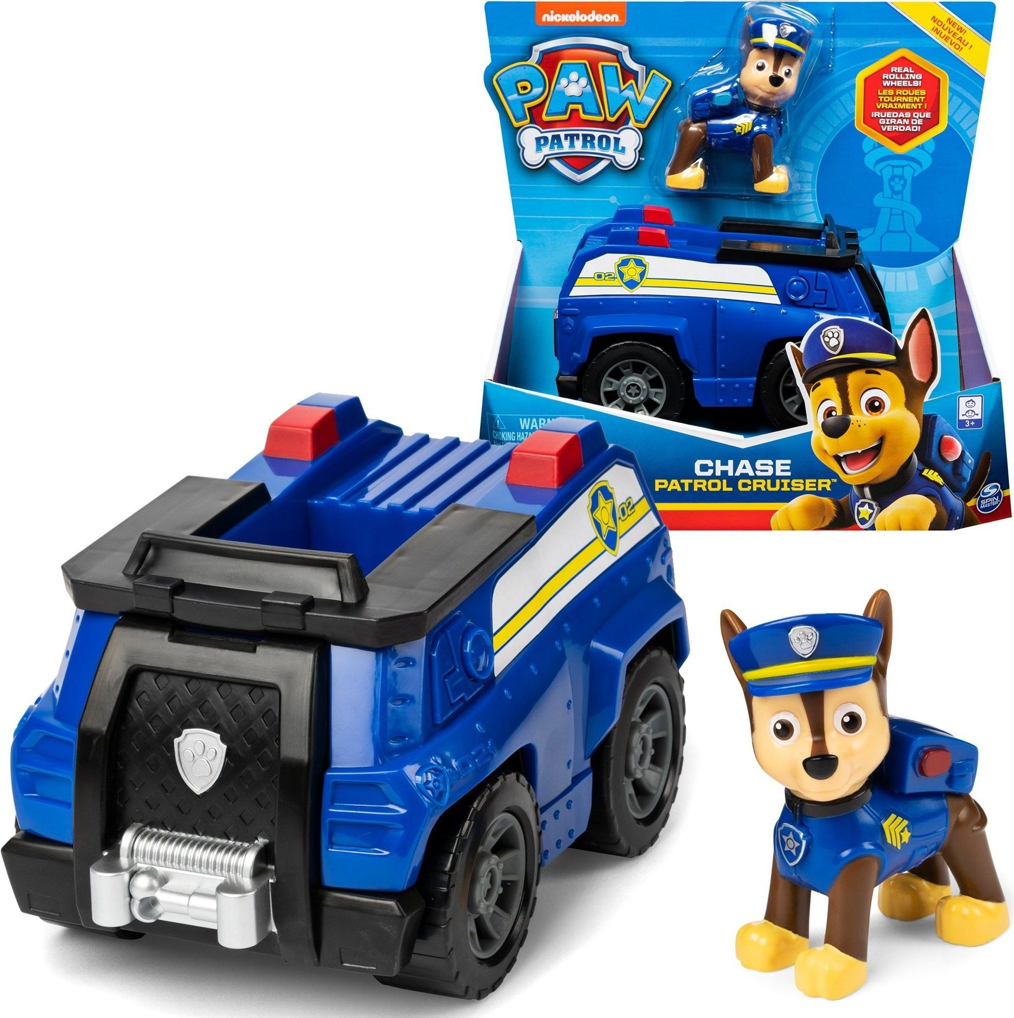 SPIN MASTER Psi Patrol Pojazd podstawowy z figurką Chase 6052310