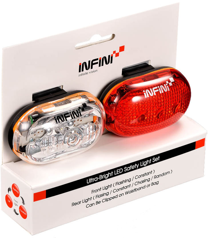 INFINI VISTA SET zestaw lampek rowerowych I-400WR2,4712123261799