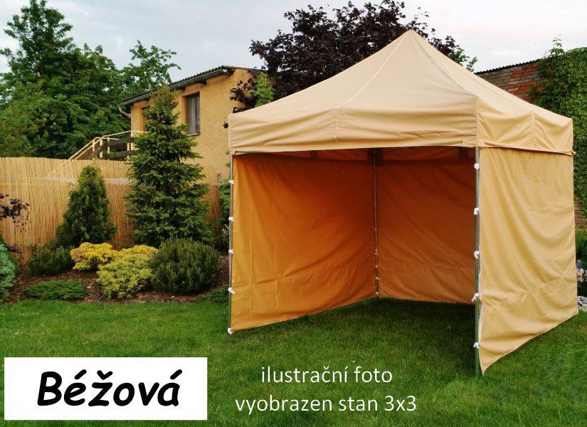 Ogrodowy namiot PROFI STEEL 3 x 6 - beżowy