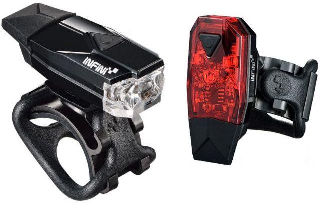 INFINI MINI LAVA SET USB zestaw lampek rowerowych I-261WR-B,4712123268194