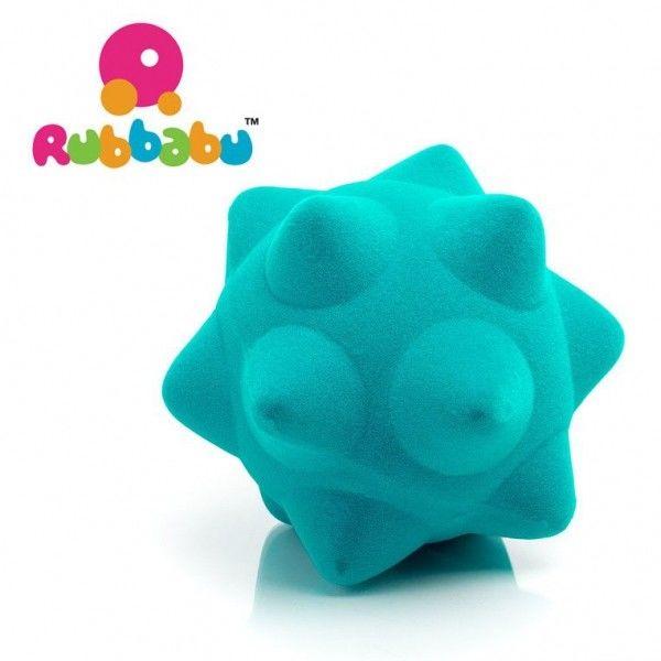 Rubbabu - Sensoryczna Piłeczka z Mocną Fakturą Piłka Turkusowa
