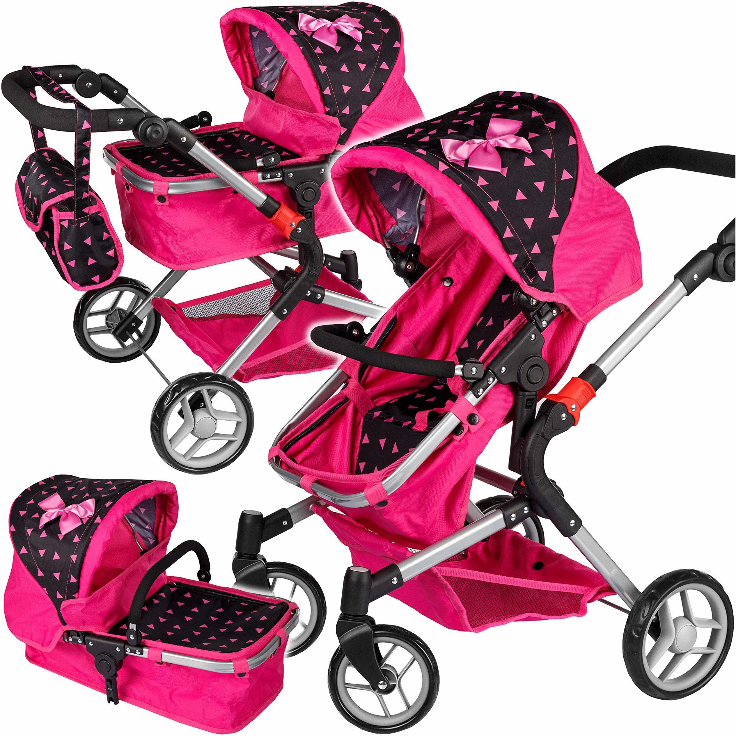 Kinderplay Wózek Dla Lalek - wózek dla lalki, spacerówka, gondola, model KP0250R