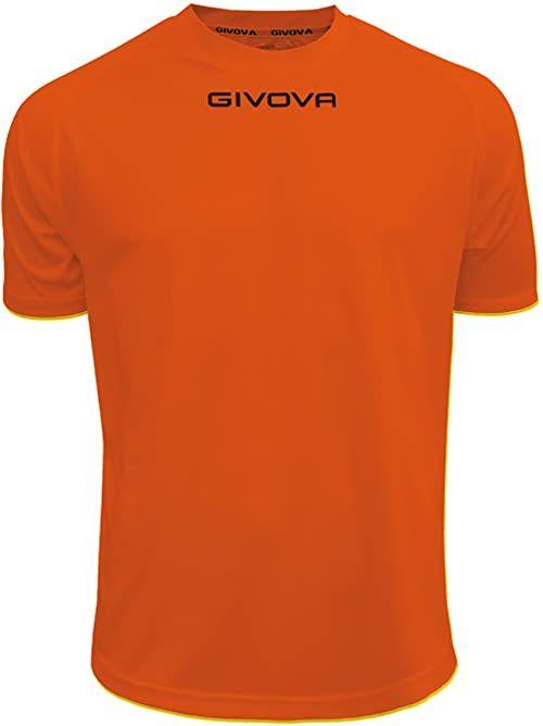 Givova - MAC01 koszulka sportowa, pomarańczowa, 3XS