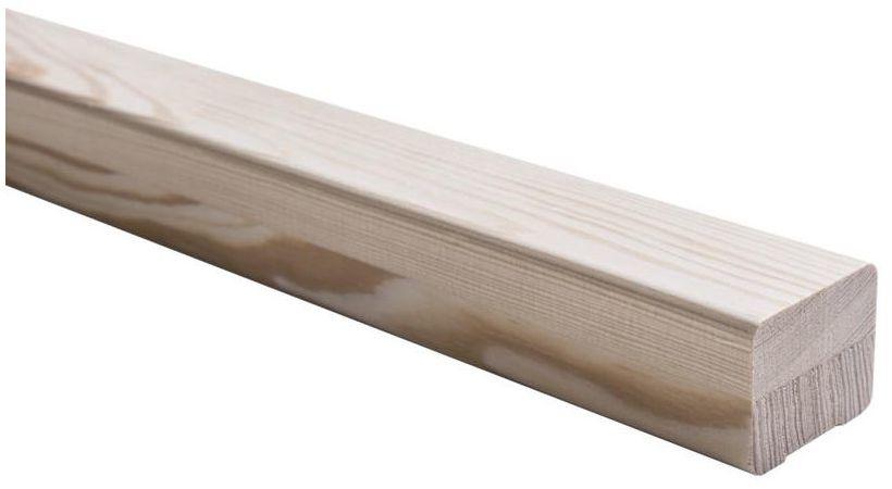 Poręcz drewniana SOSNA 270 x 3,7 x 4,7 cm KORNIK