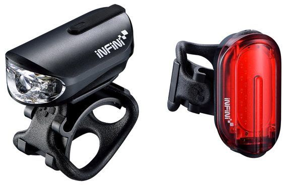 INFINI OLLEY SET Black USB zestaw lampek rowerowych I-210PR-B,4712123268774