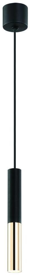 Lampa wisząca Slimi Nero S / Gold Orlicki Design nowoczesna oprawa w kolorze czarnym