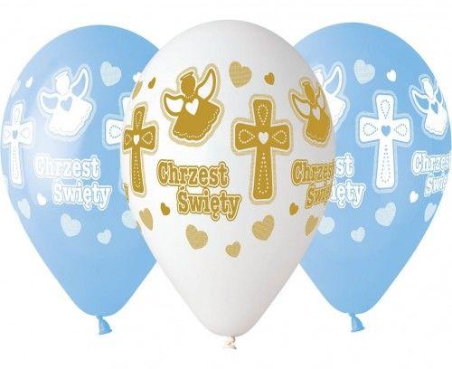 """Balony 13"""" na Chrzest Święty chłopca"""