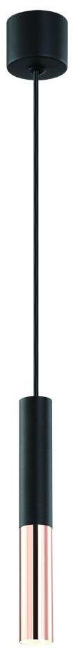 Lampa wisząca Slimi Nero S / Rose Gold Orlicki Design nowoczesna oprawa w kolorze czarnym