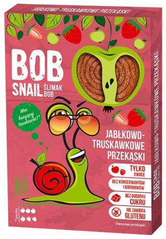 Bob Snail Przekąska jabłko-truskawkowa bez dodatku cukru - 60 g