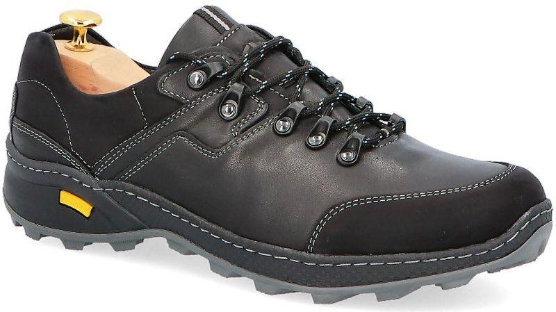 KENT 515 CZARNE - Polskie buty trekkingowe, skóra - Czarny