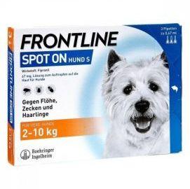 Frontline Spot-On dla Psów Małych Ras 2 - 10 kg S 3 Pipety