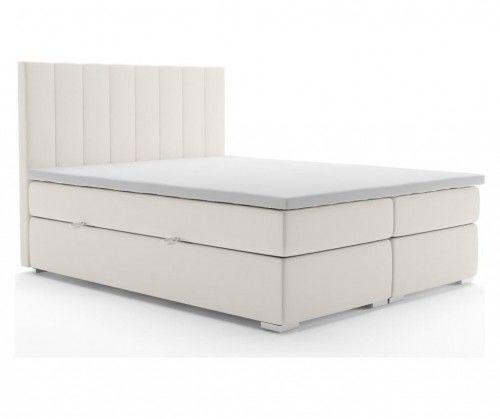 Łóżko kontynentalne Classique z pojemnikiem beżowe