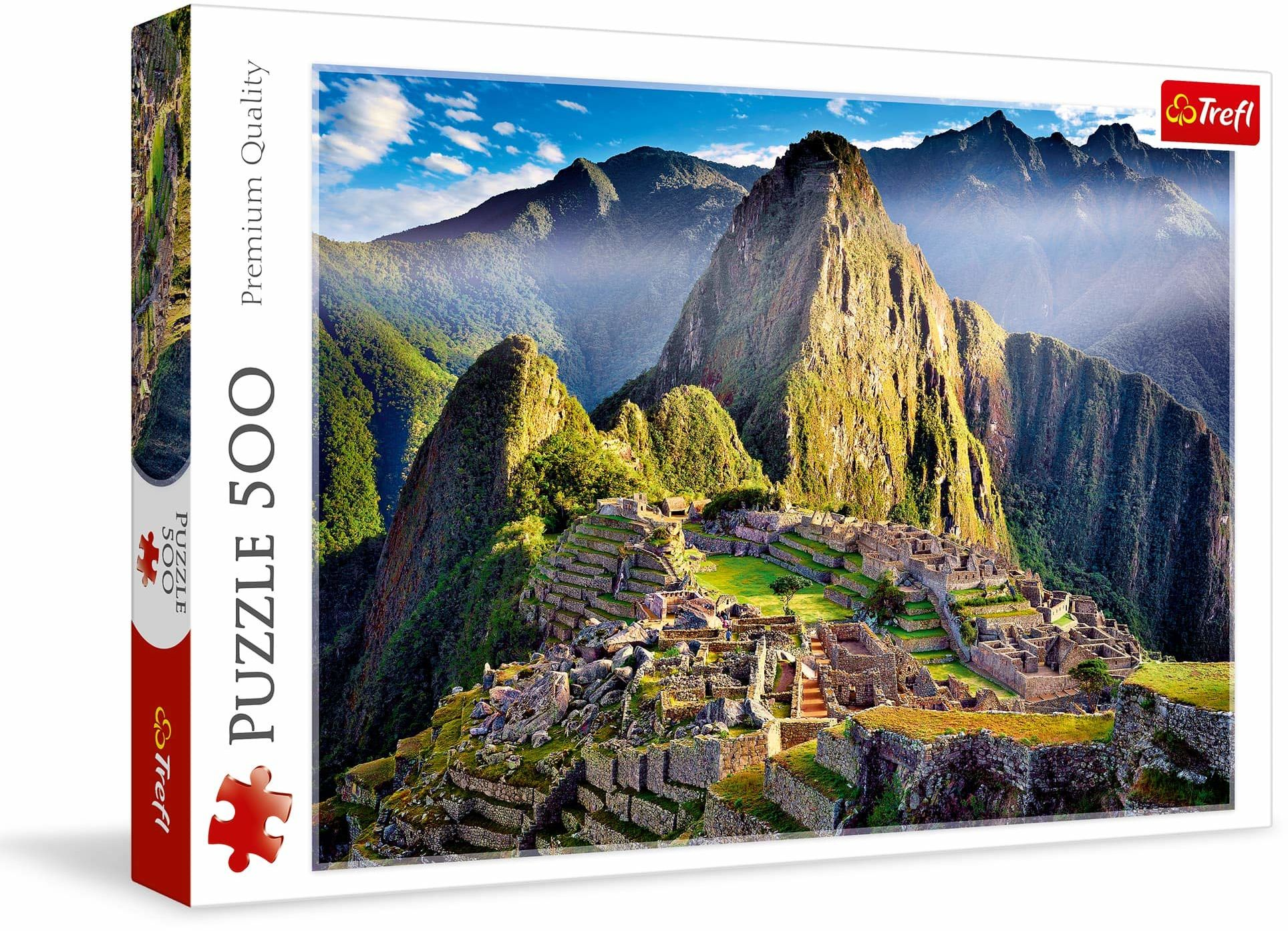 Trefl Zabytkowe Sanktuarium Machu Picchu Puzzle 500 Elementów o Wysokiej Jakości Nadruku dla Dorosłych i Dzieci od 10 lat