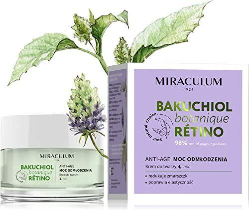 Miraculum Bakuchiol krem na noc przeciw starzeniu  krem z witaminą E do twarzy  krem na noc  krem przeciwzmarszczkowy na noc z witaminą A i masłem shea  50 ml