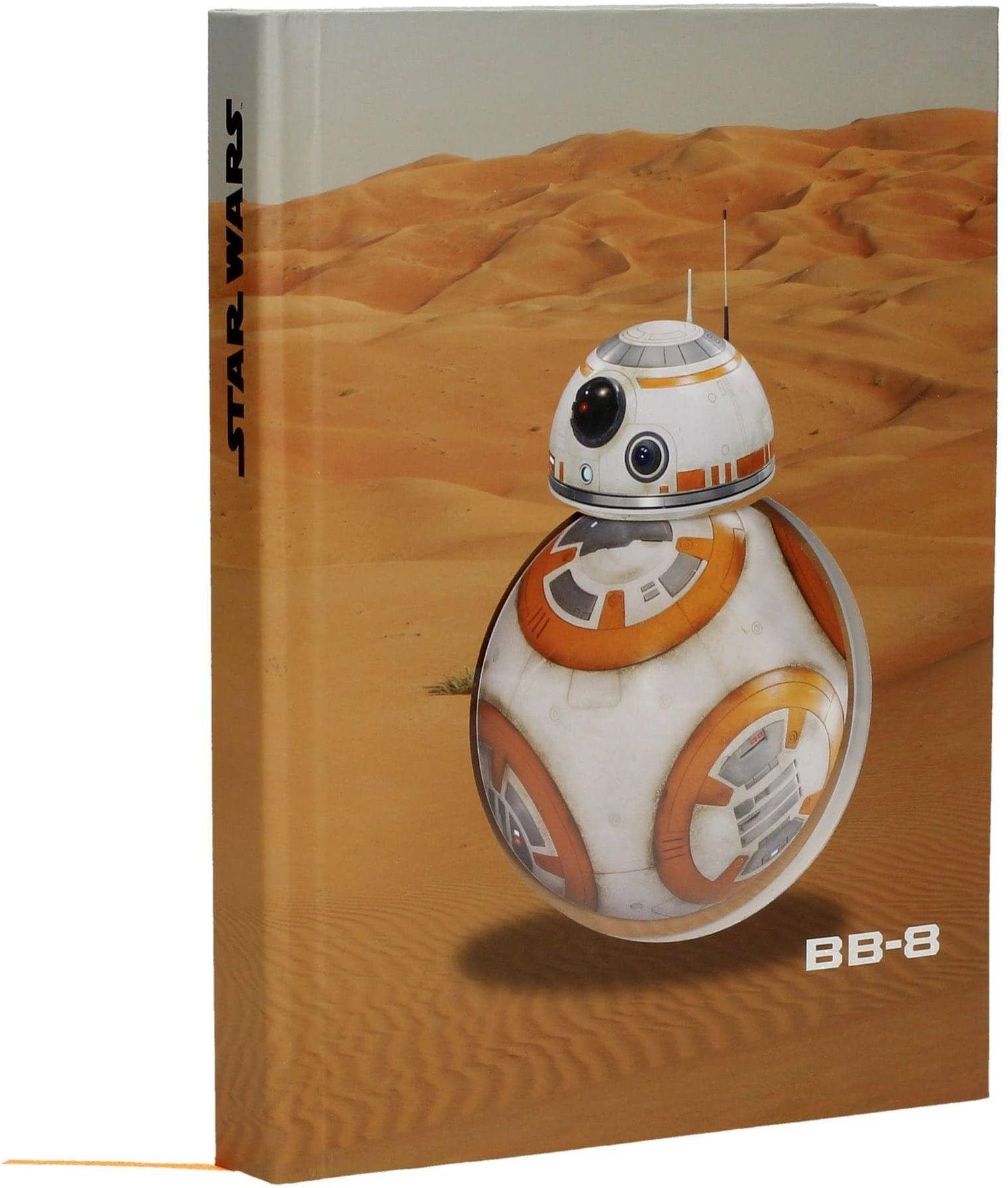 Star Wars SDTSDT89248 pustynny styl notatnika ze światłem, dźwiękiem i ruchem Bb-8, Episode 7
