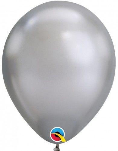 """Balon 11"""" srebrny, chrom"""