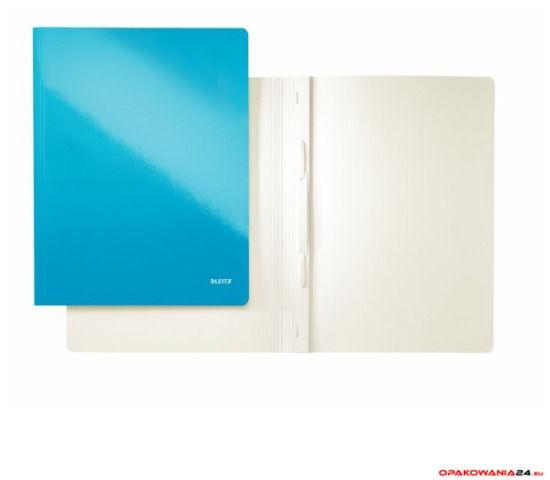 Skoroszyt kartonowy LEITZ niebieski WOW 30010036
