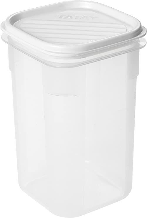 Tatay kwadratowy pojemnik na żywność, 1 l, biały, jeden rozmiar