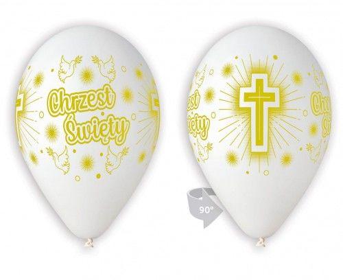 """Balony 12"""" na Chrzest Święty"""