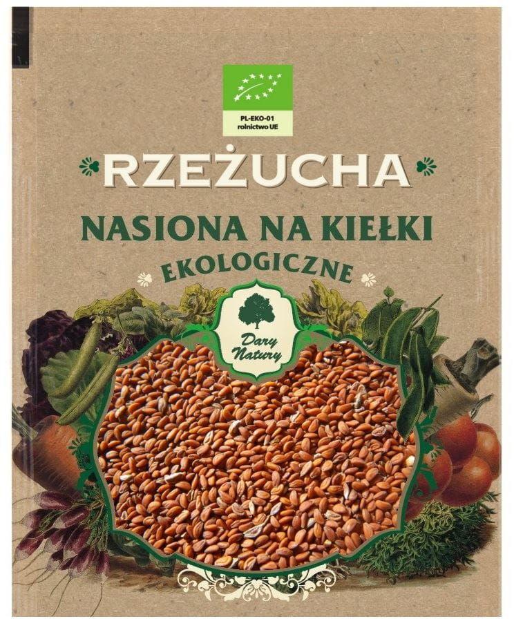 Nasiona rzeżuchy bio na kiełki 30 g - dary natury