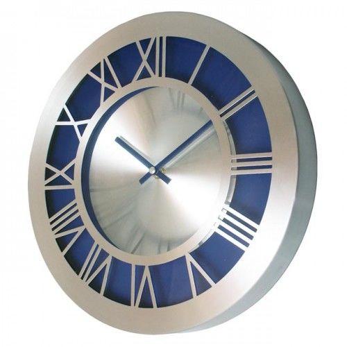 Zegar aluminiowy ROMAN blue