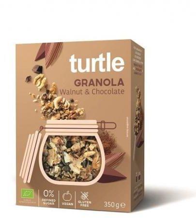 Granola ORZECH WŁOSKI - CZEKOLADA bezglutenowa BIO 350 g Turtle
