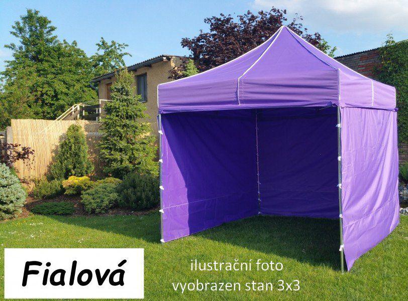 Namiot ogrodowy PROFI STEEL 3 x 4,5 - fioletowy