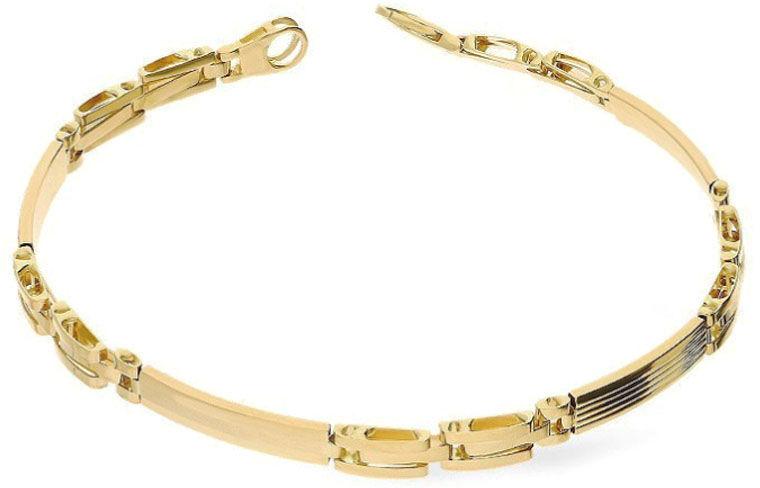 Złota elegancka bransoletka 585 blaszki