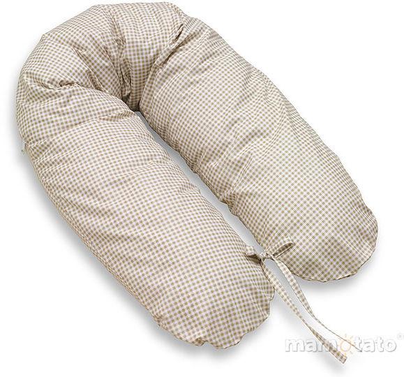 MAMO-TATO Poszewka na poduszkę dla kobiet w ciąży Krateczka brązowa